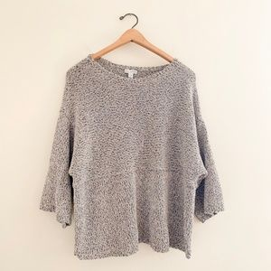 J.Jill Boxy Oversized 3/4 Sleeve Pullover Sweater